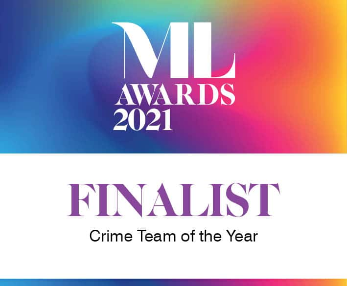 Crime team of the year Manchester